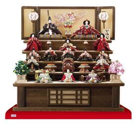 雛人形焼桐三段飾りセット
