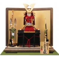 奈良 春日大社所蔵 国宝模写 『竹に虎雀』金物赤糸縅大鎧 鎧飾り
