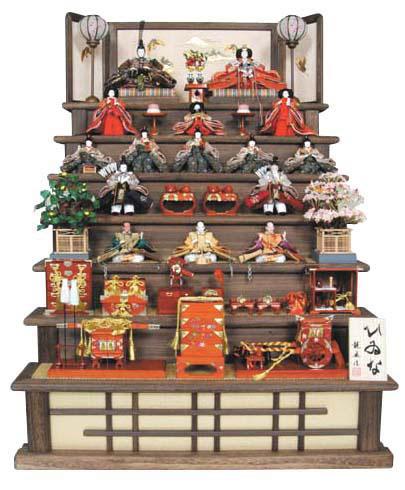 人形のまち岩槻 小木人形 雛人形 焼桐七段飾りセット