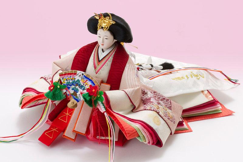 人形のまち岩槻 小木人形 ひな人形 雛人形 塗り桐三段飾り