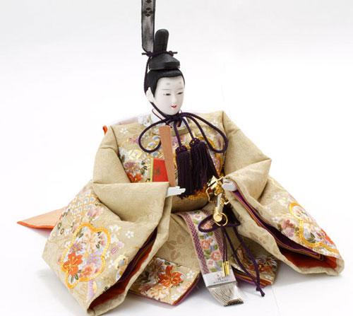 雛人形・京八番S親王焼桐高床台飾り 商品番号 No1032 男雛