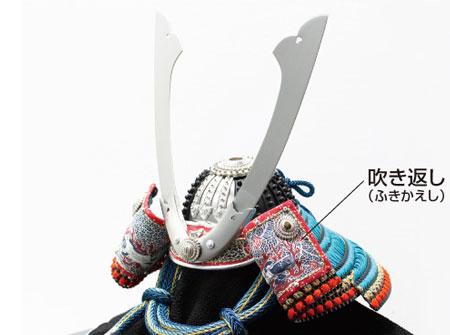 五月人形  (広島 厳島神社所蔵(鎌倉時代後期) 国宝模写 浅葱綾威大鎧 兜飾り