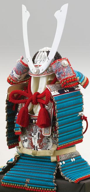 五月人形 広島 厳島神社所蔵 国宝 浅葱綾威大鎧 (鎌倉時代後期)模写鎧