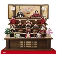 人形のまち岩槻 小木人形 焼桐五段飾りの雛人形