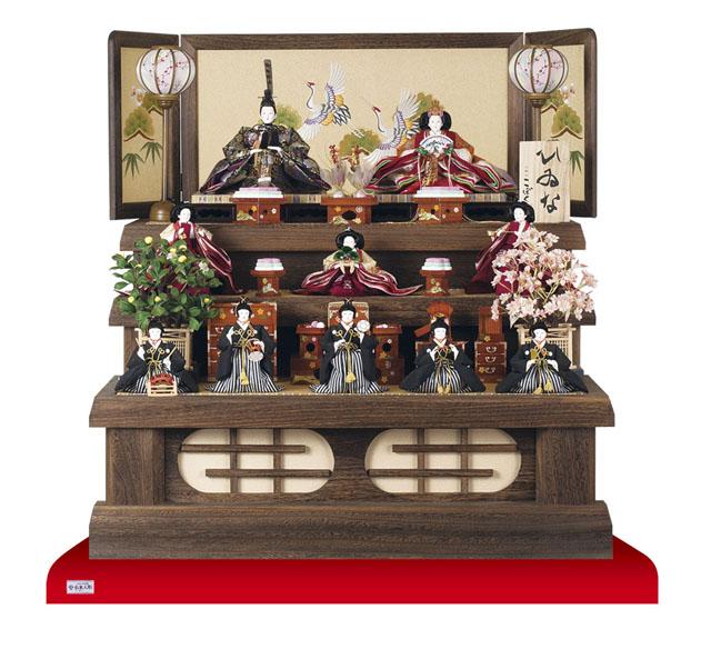 人形のまち岩槻 小木人形 雛人形 焼桐三段飾り 商品番号 No3030