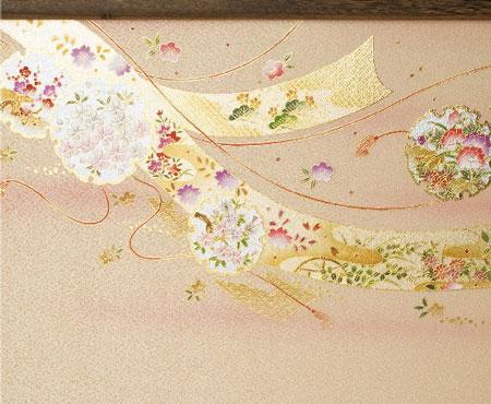 京八番親王六寸官女付焼桐三段飾りセット No3031B ひな屏風
