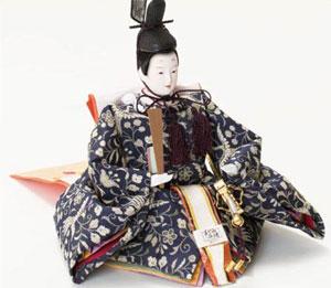 雛人形・塗り台京小十番親王飾り 商品番号 No1007 男雛