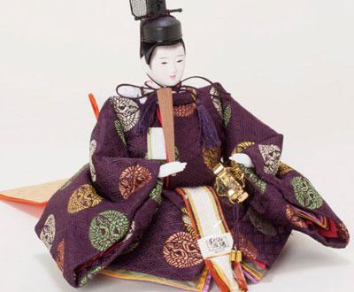 雛人形・ 京小十番焼桐平台親王飾りNo1009A 男雛