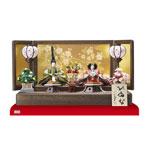 雛人形・親王飾り 人気商品はや焼桐仕様の台・屏風です。