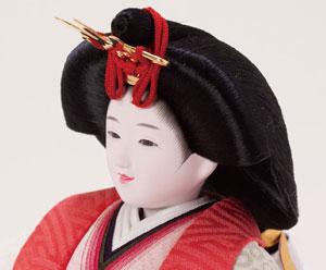 雛人形・塗り台京小十番親王飾り 商品番号 No1018 女雛のお顔