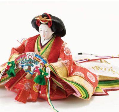 京十二番焼桐雛人形・平台親王飾り No1201 女雛