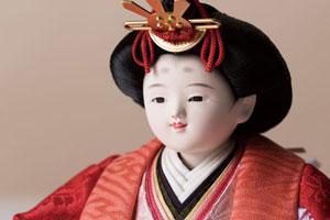 雛人形・京小十二番焼桐平台親王飾りNo1202B 女雛のお顔