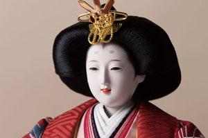 京十番親王芥子官女付塗桐三段飾りセットNo3012B 女雛のお顔