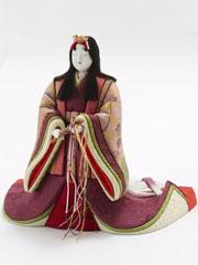 雛人形・立雛木目込み親王平台飾り 紫野 No8700 女雛