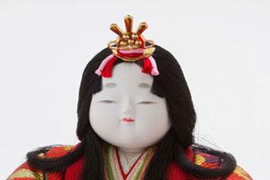 雛人形・木目込親王平台飾り 宝永雛 No8703 女雛のお顔