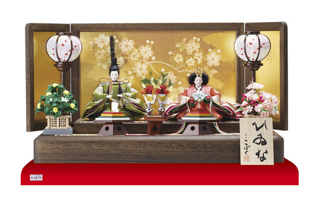 雛人形・京小十番親王焼桐平台飾りセット No1009C