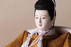 雛人形・京十二番焼桐平台親王飾り No1203 男雛のお顔
