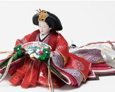 雛人形・京十二番焼桐平台親王飾り No1203 女雛