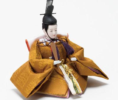 雛人形・京十二番焼桐平台親王飾り No1203 男雛 黄櫨染の衣装