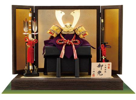 五月人形・赤糸白威平飾りセット