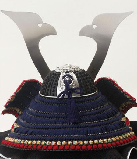 広島 厳島神社所蔵  国宝模写 紺糸威大鎧 兜飾り No311-F