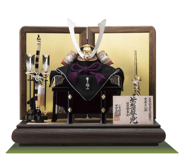 五月人形 御岳神社 重文模写 紫裾濃威大鎧 兜平台飾り No311-G
