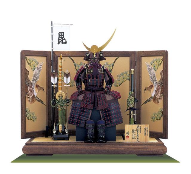 五月人形 ・上杉神社蔵 山形県文化財 紫糸威具足模写鎧飾り No3231