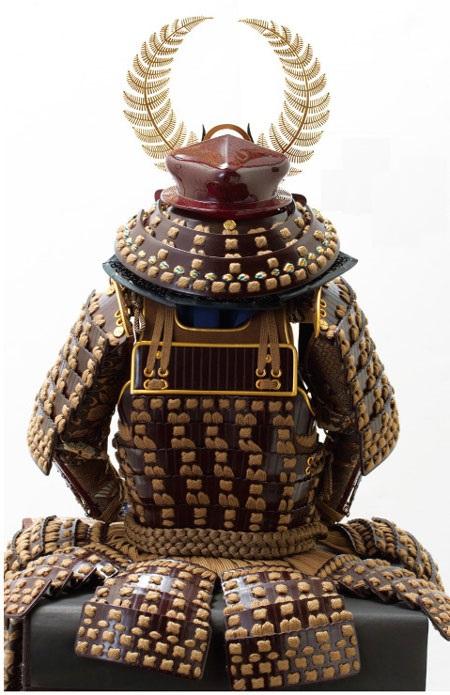 五月人形は戦国武将徳川家康公歯朶前立て大黒頭巾模写鎧飾り No3251