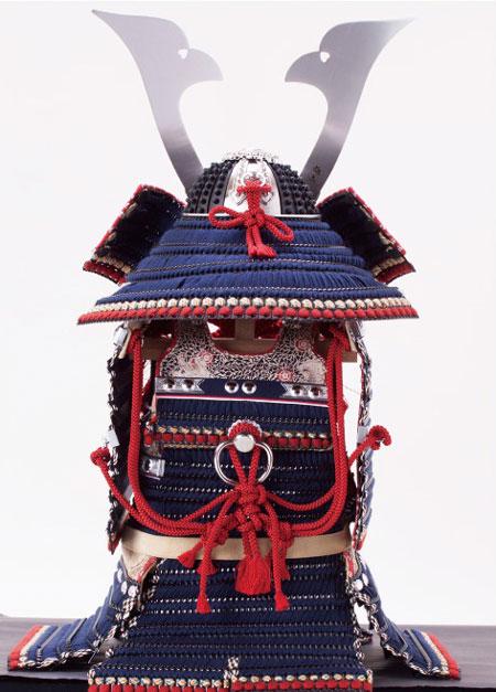 五月人形 ・広島 厳島神社所蔵  国宝模写 紺糸威鎧飾りNo321-F