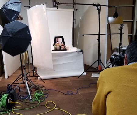 2019年度雛人形カタログの写真撮影