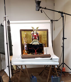2019五月人形カタログ写真撮影