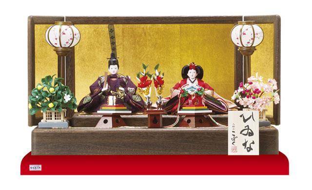 雛人形・京小十番親王焼桐平台飾り