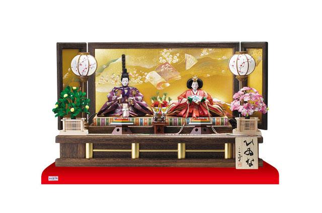 雛人形・京十番焼桐平台親王飾り