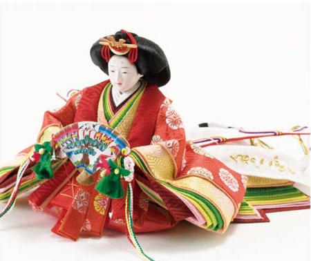 雛人形・京十二番焼桐平台親王飾り No1201 女雛