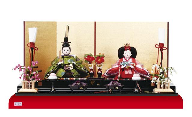 衣装着黒塗り平台親王飾りの雛人形 No1920