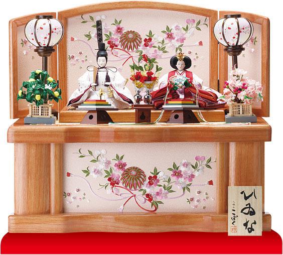 衣装着収納親王飾りの雛人形 No1021C