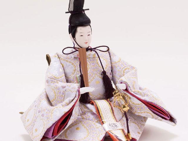 白木桐収納飾り 京小十番親王 No. 1022  男雛