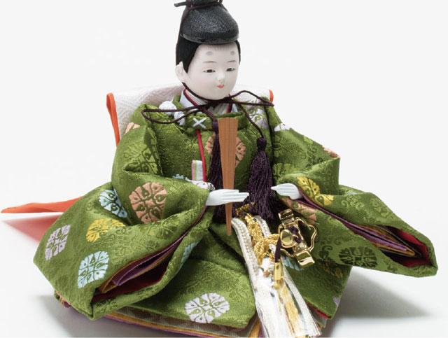衣装着 京十二番親王平台飾りNo1202B 男雛