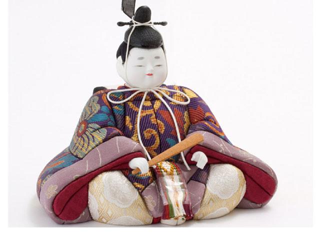 木目込人形親王 飾りの雛人形 No8703 宝永雛 男雛