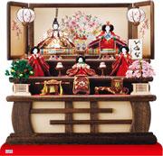 京十番親王芥子官女付衣装着三段飾り No3011