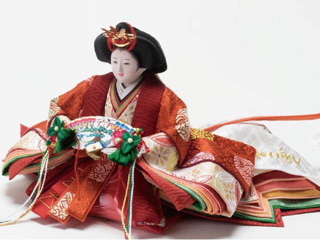 衣装着 塗桐平台京小十番親王飾り No1004A  女雛