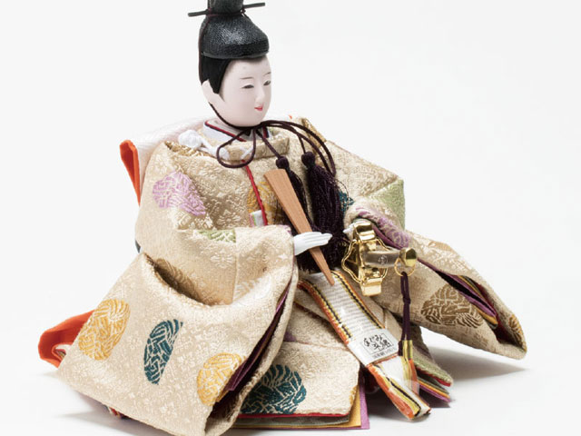 衣装着 塗桐平台京小十番親王飾り No1004A 男雛の衣装とお顔