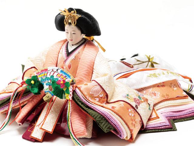 衣装着 焼桐平台 京小十番親王飾り No1005B 女雛