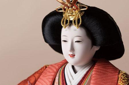 衣装着 京十番親王 焼桐平台飾り No1014C 女雛のお顔