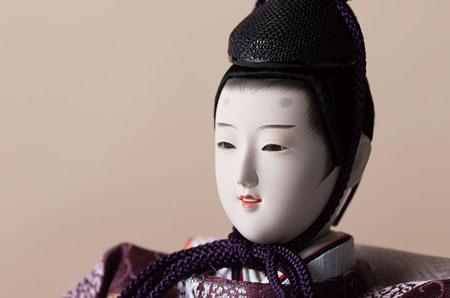 衣装着 京十番親王 焼桐平台飾り No1014C  男雛のお顔