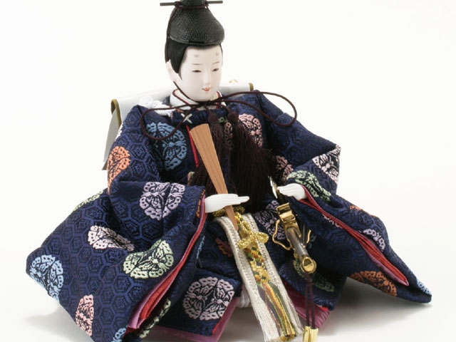 コンパクトサイズの衣装着三段飾りのひな人形No2993 男雛