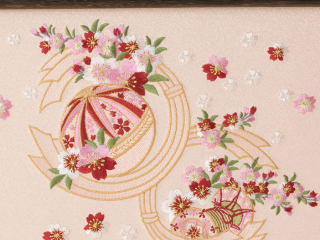 京小十番親王柳官女付焼桐三段飾りセットNo2993  ひな屏風