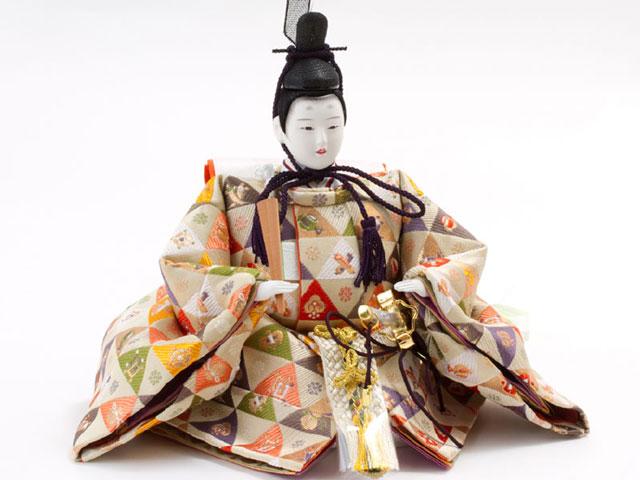 雛人形・京十番親王芥子官女付衣装着三段飾り No3011 男雛