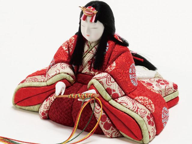 木目込人形親王 飾りの雛人形 No8709B 金彩有職 女雛