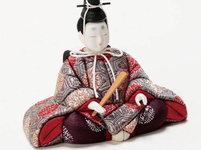 木目込人形親王 飾りの雛人形 No8709B 金彩有職 男雛